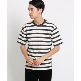 【50%OFF】 デッサン USAコットンボーダーTシャツ メンズ アイボリー(304) 02(M) 【Dessin】 【セール開催中】