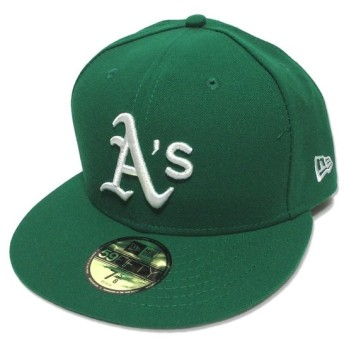 NEWERA ニューエラ ベースボールキャップ アスレチックス BB CAP グリーン 緑 7.625 帽子 メンズ  中古 80004014