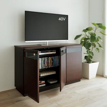 オーク材アールデザインリビングシリーズ テレビ台ハイ 幅120cmナチュラル