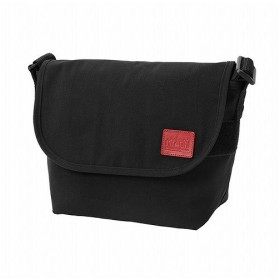 マンハッタン ポーテージ CORDURA(R) Waxed Nylon Fabric Collection Casual Messenger Bag JR ユニセックス Black S 【Manhattan Portage】