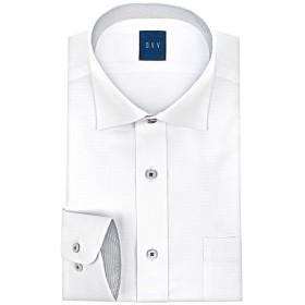 山喜オフィシャル a.v.v HOMME 長袖 ワイドカラーボタンダウンワイシャツ メンズ ホワイト S 【YAMAKI official】