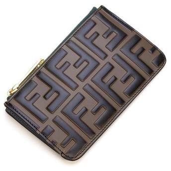 フェンディ カードケース コインケース レディース FENDIMAYA+BLACK+POUND ブルー 8AP151 A6CB F180E