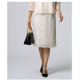 UNTITLED(アンタイトル)オリエンタルフラワー 総レースタイトスカート