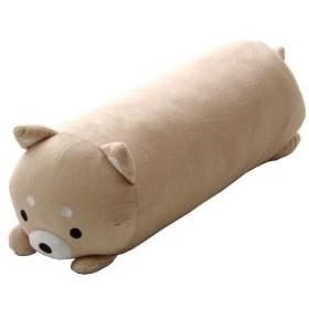 抱きまくら クッション 『ふわもち アニマル 抱き枕 柴犬』 ベージュ 約20×57cm 9810897