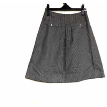 ロイスクレヨン Lois CRAYON スカート サイズM レディース 黒×アイボリー 千鳥格子【中古】20190724
