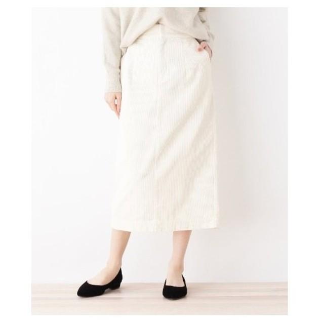 OPAQUE.CLIP(オペーク ドット クリップ)【洗える】コーデュロイタイトスカート