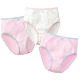 【ティーンズ】 色柄たくさん♪ショーツ(3枚組)(綿100%) - セシール ■カラー:ピンク系 ■サイズ:LL,L,M,S