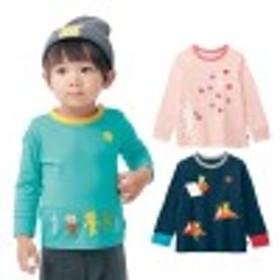 袖リブ長袖Tシャツ【子供服】【女の子 男の子】