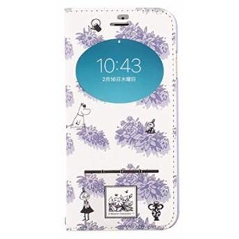 iPhone8 iPhone7 ケース 手帳型 ムーミン 窓付き キャラクター カード収納/ガールズ