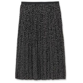 DRESSTERIOR(Ladies)(ドレステリア(レディース))【洗える】デシンドットワッシャープリーツスカート