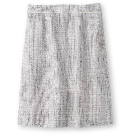 INDIVI(インディヴィ)ツイードAラインスカート