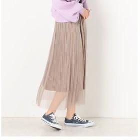 【archives:スカート】ドットチュールプリーツスカート