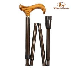 英國Classic Canes 可摺疊收納+調整高低手杖-4601(粗款)