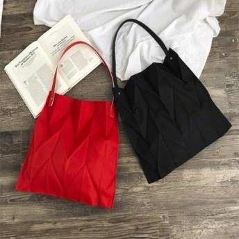A4サイズも楽々入る持って可愛い!立体的なシワ加工バッグ! 韓国ファッション かわいい トートバック おしゃれ
