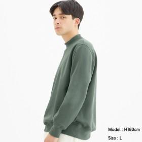 (GU)スウェットモックネックシャツ(長袖) BLUE S