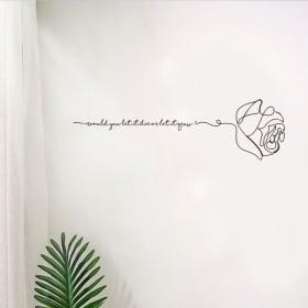 ウォールステッカー ウォールシール 壁シール 壁紙シール 壁面装飾 壁装飾 室内装飾 DIY インテリア 模様替え バラ 筆記体 英字 リビング 寝室