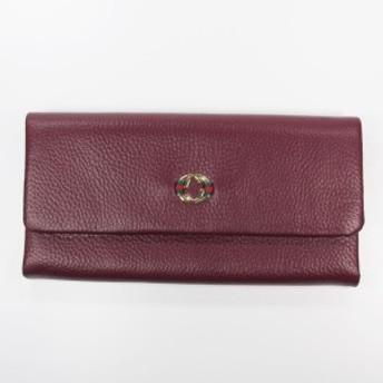 ターリー・ワサーチ 本革長財布012ワインレッド しなやか 厚くないので使いやすい