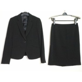 ニジュウサンク 23区 スカートスーツ サイズ38 M レディース 黒【中古】20190812