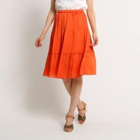 SunaUna(スーナウーナ)/【洗える】裾切り替えプリーツスカート