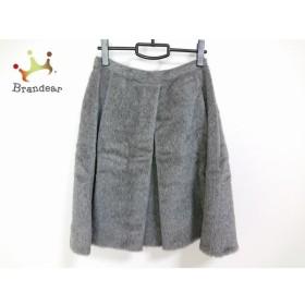 マウリツィオペコラーロ MAURIZIO PECORARO スカート サイズ8USA レディース 美品 グレー 新着 20190817