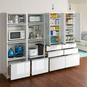 シンプルキッチンストッカー食器棚 高さ180cm