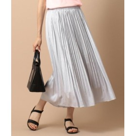 (any SiS/エニィスィス)【泉里香さん着用】ビンテージサテンプリーツ スカート/レディース ライトグレー系