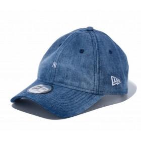ニューエラ NEW ERA 9THIRTY クロスストラップ マイクロロゴ ニューヨーク・ヤンキース ウォッシュドデニム × スノーホワイト 56.8 - 60.6cm 帽子 日本正規品