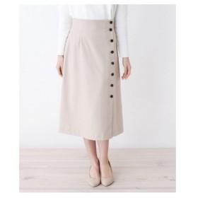 OPAQUE.CLIP(オペーク ドット クリップ)【洗濯機洗いOK】ネオストライプボタンラップスカート