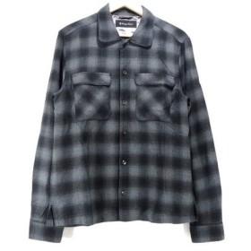 LOUNGE LIZARD ラウンジリザード 長袖ワークシャツ チェック ボーリングシャツ 黒 グレー 2 【中古】70004909