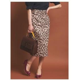 31 Sons de mode(トランテアン ソン ドゥ モード)【スカート】ベルト付レオパード柄スカート