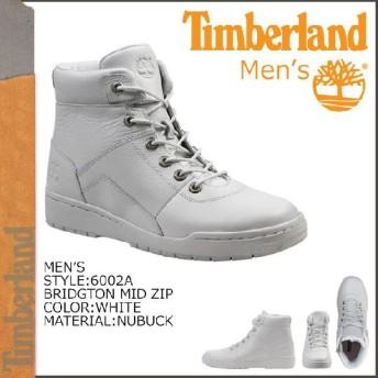 ティンバーランド Timberland ブリットン ミッド ジップ ホワイト BRIDGTON MID ZIP ヌバック メンズ 6002A