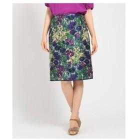 SunaUna(スーナウーナ)【洗える】LIMONTA フラワータイトスカート