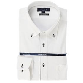 【TAKA-Q:トップス】ノーアイロン高機能 スリムフィットボタンダウン長袖ニットビジネスドレスシャツ/ワイシャツ