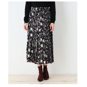 OZOC(オゾック)【洗える】フラワー総柄切替プリーツスカート