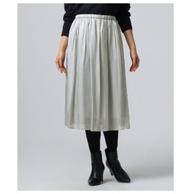 UNTITLED(アンタイトル)[L]【洗える】サテン消しプリーツスカート