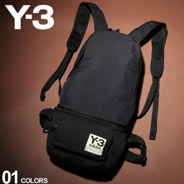 Y-3 ワイスリー バックパック パッカブル 2WAY ナイロン ロゴ ボディバッグ PACKABLE BP BLACK ブランド メンズ リュック ウエストポーチ Y3FH9255