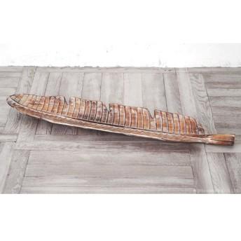 リーフトレイ 木製 アジアン 雑貨 バリ ナチュラル Lサイズ 1個 Z910216F