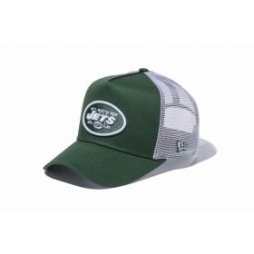 【ニューエラ公式】 9FORTY D-Frame トラッカー ニューヨーク・ジェッツ シラントログリーン × チームカラー ホワイトメッシュ メンズ レディース 55.8 - 59.6cm NFL キャップ 帽子 11434235 NEW ERA