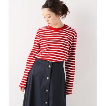 SLOBE IENA MAISON KITSUNE MARINE TRIFOX PATCH Tシャツ レッド フリー