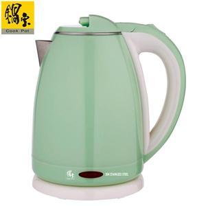 【鍋寶】雙層防燙不銹鋼快煮壺-1.8L綠 KT-1892G