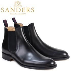 SANDERS サンダース ミリタリー サイドゴア ブーツ チェルシーブーツ ビジネス メンズ BUCHAREST ブラック 1554B