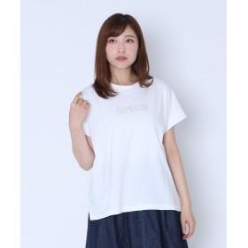 【9%OFF】 LASUD [RADIATE]CLEMENTINE ロゴTシャツ (New Color) レディース シロP FREE 【LASUD】 【タイムセール開催中】