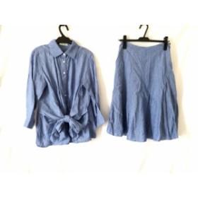 スキャパ Scapa スカートセットアップ サイズ40 XL レディース 美品 ライトブルー【中古】20190726