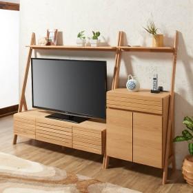 天然木シェルフテレビ台シリーズ キャビネット 幅65cmナチュラル