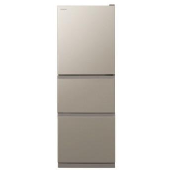 日立 冷凍冷蔵庫 まんなか野菜 ライトブラウン 3ドア 265L 右開き R-27KV-T(配送設置無料/時間指定不可)【納期目安:約3〜4週間】