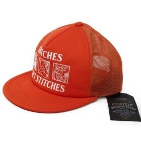 未使用 COOTIE クーティー メッシュ キャップ 16SS PONTEROMA 5 PANEL TRUCKER CAP 帽子 CTE-16S503 オレンジ  帽子 メンズ 中古【中古】28000091