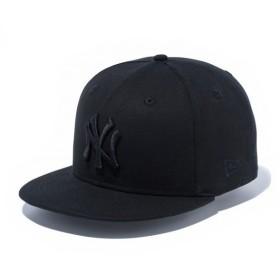 NEW ERA(ニューエラ) 帽子 キャップ / 9FIFTY ダックキャンバス ニューヨーク・ヤンキース ブラック×ブラック 11781371 日本正規代理店商品