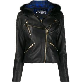Versace Jeans Couture フーデッド ライダースジャケット - ブラック
