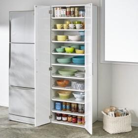 食器が探しやすく取り出しやすい食器棚 幅60cmホワイト