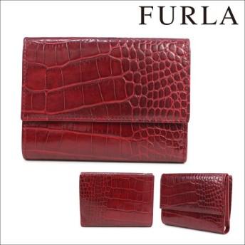 FURLA フルラ 財布 三つ折り レディース レッド CA BOOK 663431